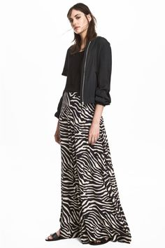 Patterned maxi skirt - Zebra print - Ladies  ab1bd62057f