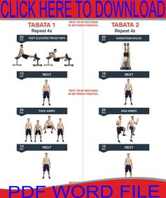 Finish this tabata HIIT workout in under 10 minutes from HIIT Academy! Hiit Training Workouts, Hiit Workouts For Men, Cardio Abs, Ab Workout Men, Best Ab Workout, Workout Exercises, Hit Cardio, Extreme Workouts, Hamstring Exercises