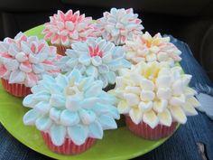 Marshmallow mum cupcakes