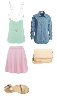 летняя прогулка by lukashenko-n on Polyvore featuring мода, Vale, Vero Moda, Steve Madden, Liebeskind and Forever 21