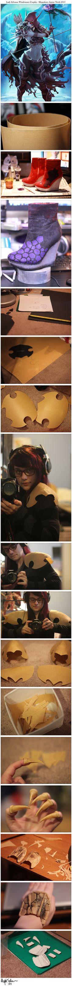 Lady Sylvanas Windrunner Cosplay WIP #1 by Megankaro.deviantart.com on @deviantART
