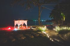 Romantic dinner set up for marriage proposal on Koh Samui #samui #weddings #events  Photo by Cherry May Ward