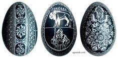 AGNUSEK - Danuta Sroka - Pisanki drapane, batikowe, wycinanki i inne Easter Eggs, Hand Painted, Diy, Match Boxes, Bricolage, Do It Yourself, Homemade, Diys, Crafting