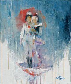 Dreaming of a Pink Rain Painting Rain Painting, Rain Art, Fine Art Paper, Oil On Canvas, Saatchi Art, Modern Art, Original Paintings, Fantasy, Art Prints