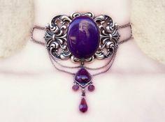 Dramatic Purple Choker. WOW!!!!