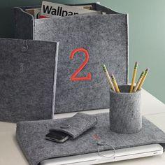 Felt Office Storage modern desk accessories