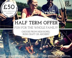 ‍‍‍ EASTER HOLIDAY FAMILY OFFER!  ‍‍‍ Make your Easter break one to remember and try Archery , Bushcraft  or High Ropes! Just £50 for a family of 4 (age 8 & up)! ‍‍‍ Fun games, exciting competitions and a whole lotta fun  Available at all of our venues near York, Leeds, Harrogate & Kendal (High Ropes Harrogate & Kendal only) between 3rd and 23rd April, Sunday - Friday. Pre-booking is essential, book today