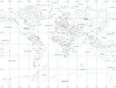 World Map - White - Tavlor på canvas -http://www.photowall.se/
