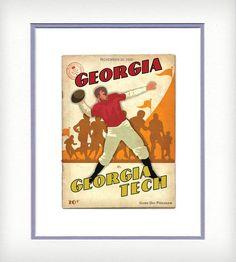UGA vs Georgia Tech Vintage-Style Print by ATL Vintage Print on Scoutmob Shoppe