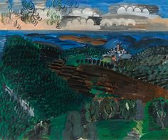 Raoul Dufy - Saint-Paul de Vence, 1925 Raoul Dufy (1877-1953)Saint-Paul de Vence (c. 1925)