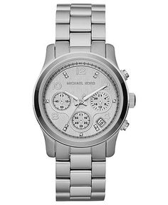 Michael Kors Watch Set, Set of 3 Women's Chronograph Runway Gold Tone, Silver Tone and Rose Gold Tone Stainless Steel Bracelets 36mm MK5683