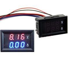2017 DC 100V 50A Voltmeter Ammeter Blue + Red LED Amp Dual Digital Volt Meter Gauge