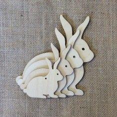 Wooden Hanging Bunnies