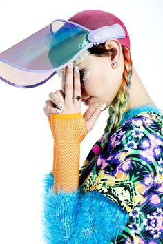 90's rave clubber wear inspired couture avant garde fashion style Reverse Kaleidoscope Dress #rave