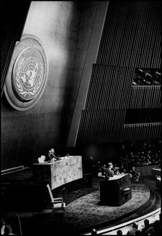 Bob Henriques USA. New York City. 1961. US President John Fitzgerald KENNEDY at United Nations headquarters.