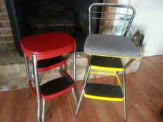 repurposed vintage stools from estate sales: found by @TrashFindRedesigned