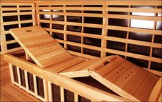 Enjoy our classic sauna design through our Premier model. This Jacuzzi® infrared sauna can hold up to 5 people and is available in cedar or basswood. Clearlight Sauna, Steam Sauna, Sauna Room, Saunas, Corner Summer House, Portable Sauna, Sauna Design, Outdoor Sauna, Buy Chair