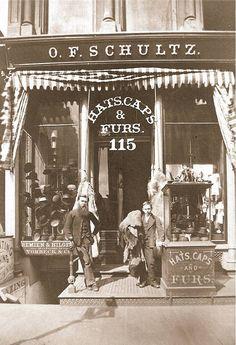 OF Schultz Storefront, Chicago 1900