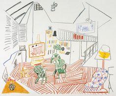 David Hockney 'Pembroke Studio Interior', 1984 © David Hockney