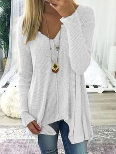 37f2f2ea85 NEW Autumn Winter Causal Tops Women S Knitted Loose Sweater V-Neck Long  Sleeve Pullover Female Fashion Jumper