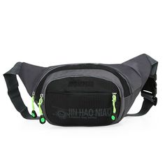 OpetHome Waterproof Nylon Running Hiking Camping Cycling Fanny Pack with 3 Zippers * Visit the image link more details.
