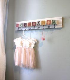 Custom Nursery Name Storage Rack. $78.00, via Etsy.