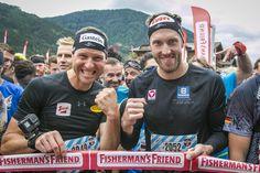 Auch die beiden bekannten Spitzensportler waren am 13.07.2019 in Flachau mit dabei Fishermans Friend, Baseball Cards, Friends, Party, Athlete, Tourism, Dog, Amigos, Fiesta Party