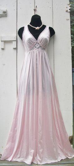 Vintage Olga Style Nightgown Miss Elaine by VintageSoulWear, $38.00
