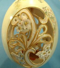 Egg Design craft - decorated Faberge style egg art.