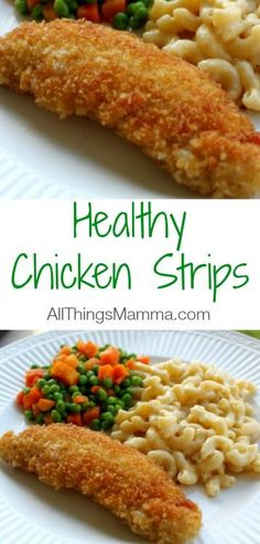 Never buy Chicken Nuggets or Chicken Strips again! These Healthy Chicken Strips are delicious!