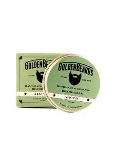 """Bálsamo para Barba orgánico """"Golden Beards Arctic"""", suaviza, hidrata y tonifica tu barba y piel con un refrescante aroma a Menta, Lavanda y Naranja."""