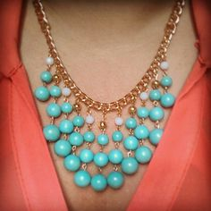 Tiffany Blue Gold White Crystal Spring Statement by shopaugustrose