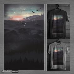 Love this Surreal Landscape..   Northern Sky by dandingeroz on Threadless