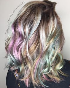 35 Fashionable Blonde Hair Ideas For Winter Opal Hair, Vivid Hair Color, Balayage Color, Brown Blonde Hair, Lavender Hair, Spring Hairstyles, Party Hairstyles, Unicorn Hair, Mermaid Hair