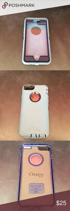 iPhone 6 OtterBox Light and bevy blue OtterBox for IPhone 6. Still in incredible condition with few scratches on the plastic screen. All rubber tabs in great condition. Still has a lot more life left! OtterBox Accessories Phone Cases