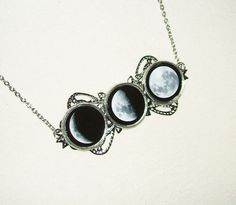 Shop for moon on Etsy, the place to express your creativity through the buying and selling of handmade and vintage goods. Wiccan Jewelry, Moon Jewelry, Gothic Jewelry, Jewelry Art, Jewelry Accessories, Jewellery, Witch Fashion, Bling, Pendants