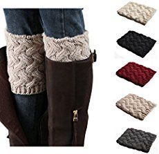 This boot cuff pattern is a must have for the season. These cuffs adjust to any height boot so make them in every color you can imagine! Great gifts!