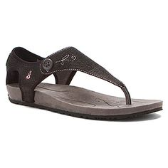 I own a pair of these in a lighter color and they are really comfortable. Great summer sandal