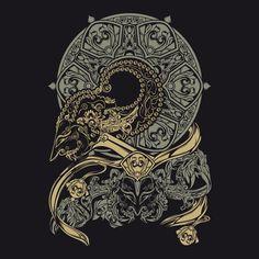 wayangan wayang mural etnic design T-shirt by solit Indonesian Art, Canvas Prints, Art Prints, Buy Frames, Tattoo Project, Dark Art, Vector Art, Amazing Art, Design Art
