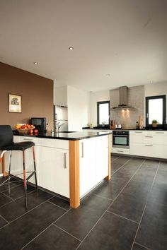 fertighaus.net - Wohnideen - Küche und Essplatz Modernes Kunststück