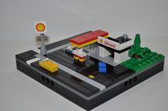 Micropolis Shell Station #micropolis #microscale #lego