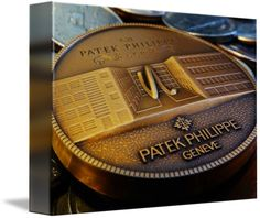 "Patek Philippe Geneve Commemorative Medal Coin $62 // Style: Soft Edge Canvas Print; Size: Petite 8"" x 10"" // Visit http://www.imagekind.com/Patek-Philippe-Geneve-PPG_art?IMID=f3908c20-ea81-4cad-96a2-bcfab5a6a254 for product details."