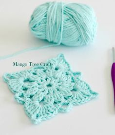 Crochet Afghans Easy 20 Easy Crochet Squares You Can Use To Make Blankets Ideal Me - Nothing can be more versatile than putting together a bunch of easy crochet squares and turn them into something more! Point Granny Au Crochet, Crochet Squares Afghan, Crochet Motifs, Crochet Blocks, Granny Square Crochet Pattern, Afghan Crochet Patterns, Free Crochet, Knitting Patterns, Free Knitting