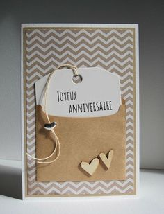 simple birthday cards stampin up Birthday Gifts For Boyfriend Diy, Boyfriend Crafts, Simple Birthday Cards, Diy Birthday, Paper Cards, Diy Cards, Diy Papier, Anniversary Cards, Scrapbook Cards