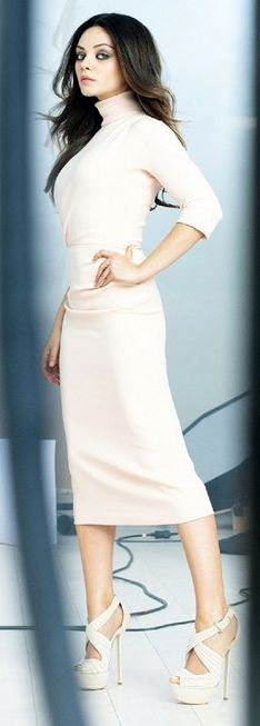 Dress and shoes - Christian Dior cheaper style dress Turtleneck Sweaterdress