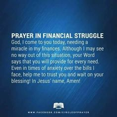 Prayer for finances. shared on PRAYER fb pg Jan 2019 Prayer Scriptures, Bible Prayers, Catholic Prayers, Faith Prayer, God Prayer, Prayer Quotes, Spiritual Quotes, Money Prayer, Angel Prayers