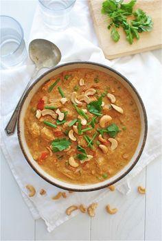 Creamy Indian Cashew Chicken / Bev Cooks