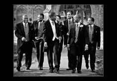 Groom and his groomsmen taken at Wasing Park by Basingstoke wedding photographer