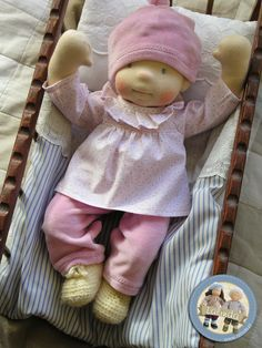 Kaya - sculpted cloth baby doll by Lalinda.pl