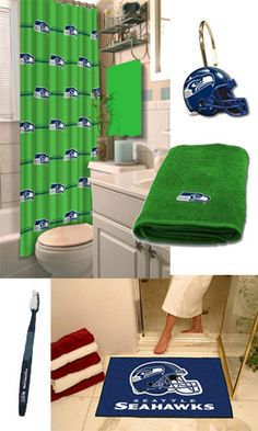 Seattle Seahawks Football Gear for Your Bathroom | Seattle Team Gear